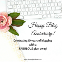 Celebrating 10 Years of Blogging with a Fabulous Give-Away!