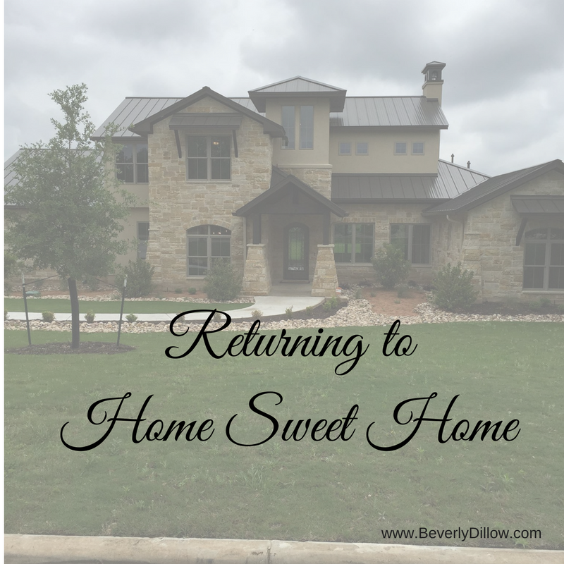 Returning To A Home Sweet Home
